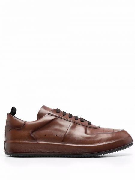 Коричневые кроссовки на шнуровке Officine Creative