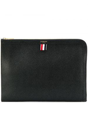 Кожаная черная сумка в полоску Thom Browne