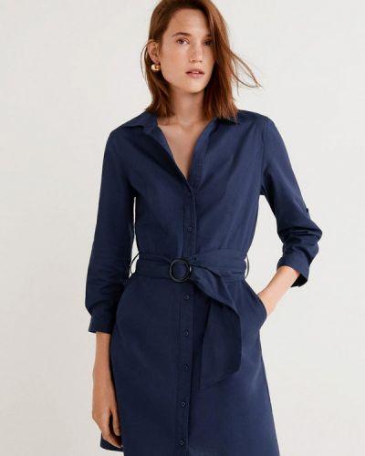 Платье платье-рубашка весеннее Mango