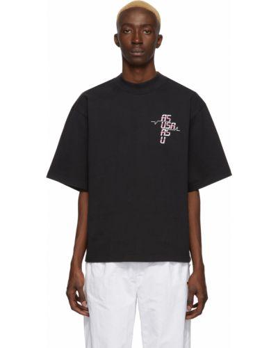 Biały t-shirt bawełniany z haftem Reebok By Pyer Moss