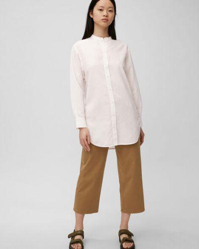 Biała bluzka koszulowa nietoperze bawełniana Marc O Polo