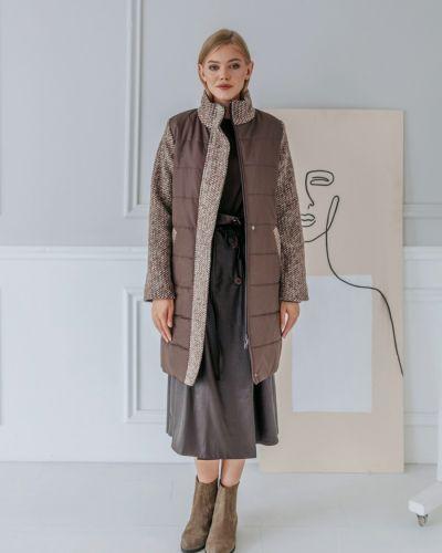 Теплое драповое длинное пальто с воротником Abodie