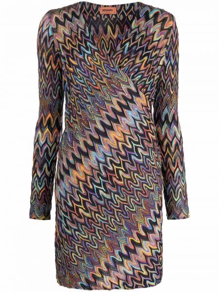 Шерстяное платье макси - фиолетовое Missoni