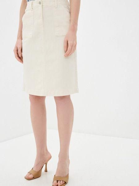 Белая джинсовая юбка Marks & Spencer