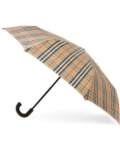 Кожаный серебряный зонт винтажный Burberry