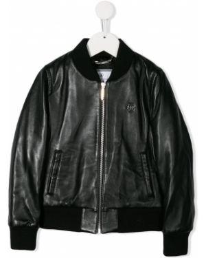 Куртка черная в рубчик Philipp Plein Junior