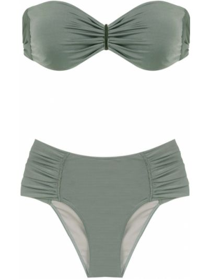 Кружевные зеленые бикини на шнуровке Brigitte
