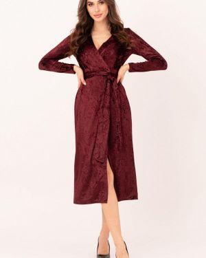 Вечернее платье осеннее красный Magnet