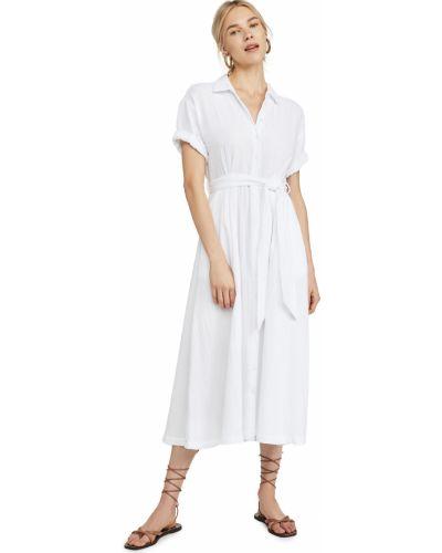 Белое платье с короткими рукавами стрейч Xírena