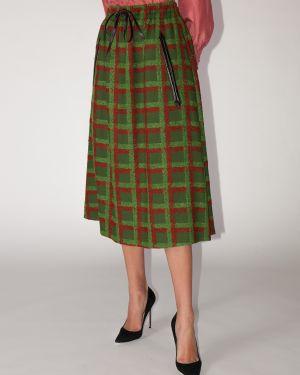 Кожаная юбка на резинке с завышенной талией Gucci