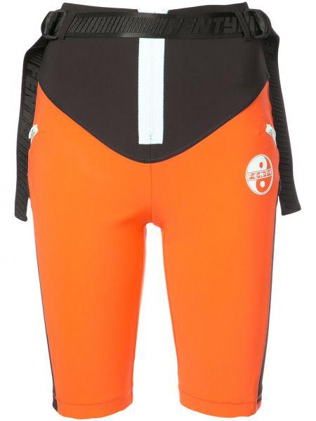 Черные нейлоновые спортивные брюки байкерские Fenty X Puma