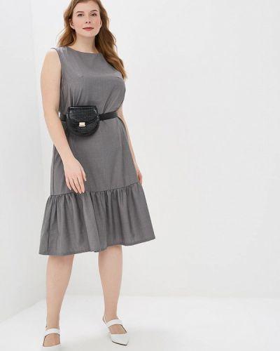 Повседневное платье серое Tutto Bene Plus