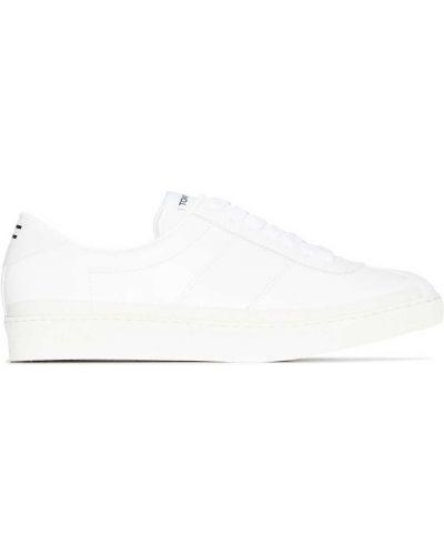 Białe sneakersy skorzane Tom Ford