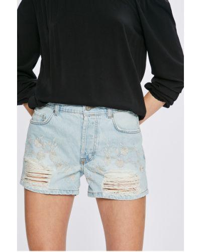 Шорты с завышенной талией джинсовые с вышивкой Mustang