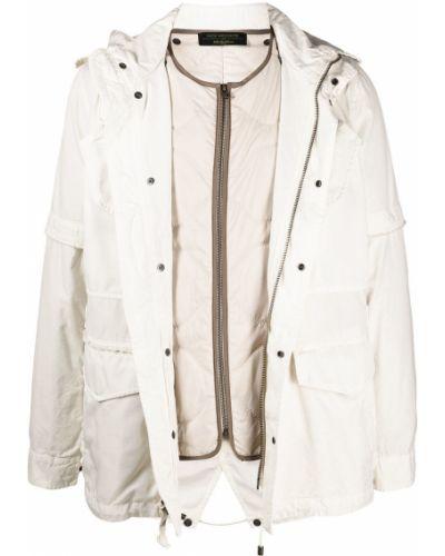 Beżowa długa kurtka pikowana bawełniana Mr And Mrs Italy