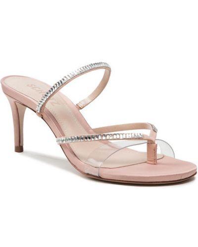 Różowe sandały zamszowe Schutz