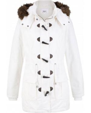 Куртка с капюшоном демисезонная плюшевая Bonprix