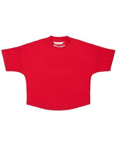 Красная трикотажная футболка Palm Angels