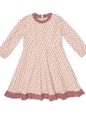 Ватное хлопковое розовое платье стрейч Caramel