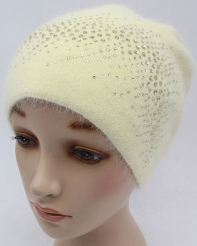 Кашемировая желтая шапка Leks-jolie