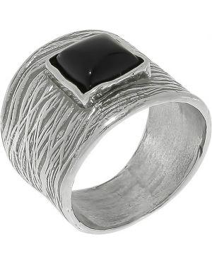 Кольцо черный из серебра Den'o
