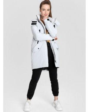 Куртка с капюшоном на молнии мятная с манжетами с воротником Ostin
