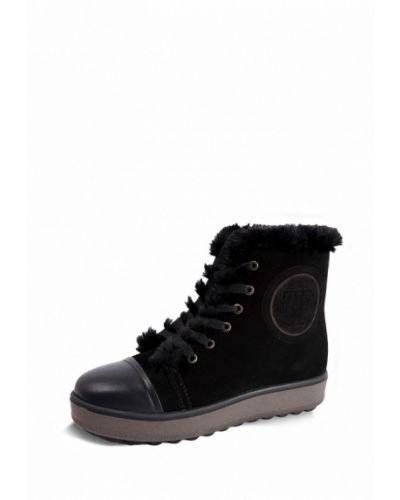 Ботинки на каблуке осенние замшевые Frivoli