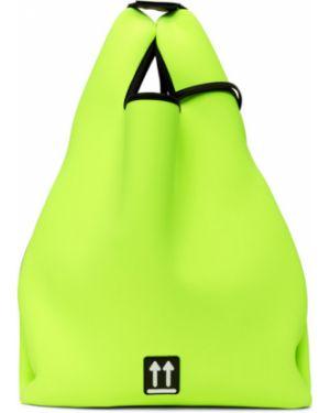 Кожаная сумка шоппер с леопардовым принтом Off-white