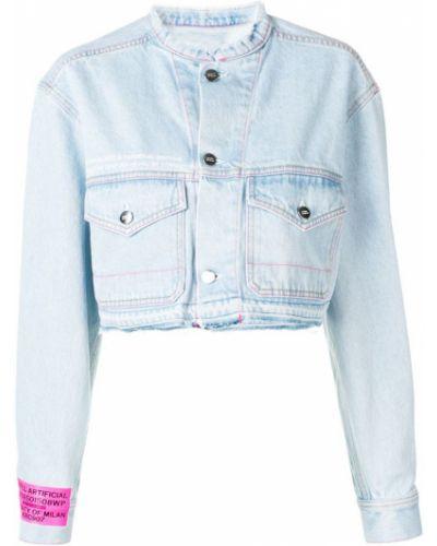 Джинсовая куртка длинная - синяя Marcelo Burlon. County Of Milan