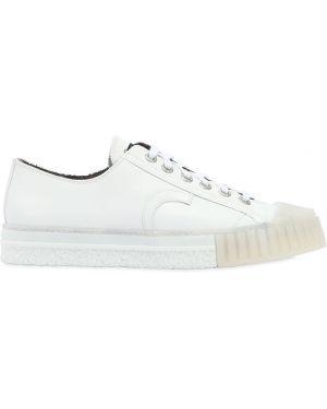 Białe sneakersy skorzane Adieu
