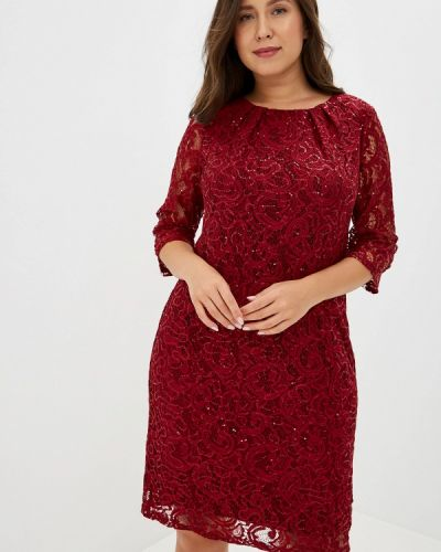 Вечернее платье бордовый красный M.djus