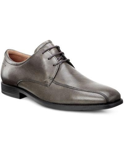 Туфли серые на шнурках Ecco