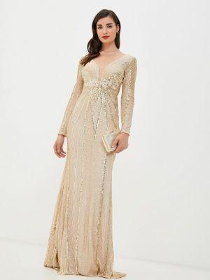 Зимнее вечернее платье золотое Soky & Soka