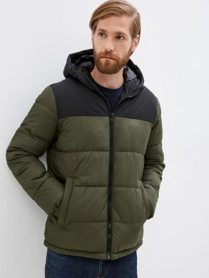 Зимняя куртка хаки Jack & Jones