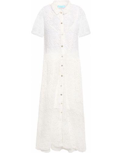 Пляжное кружевное белое платье миди Melissa Odabash