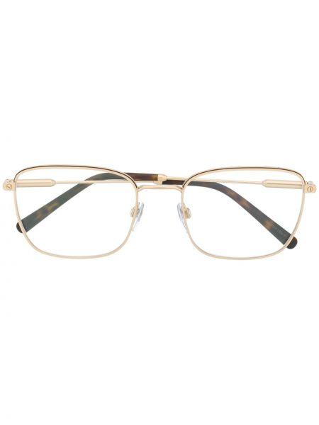Prosto oprawka do okularów metal prostokątny złoto Bvlgari