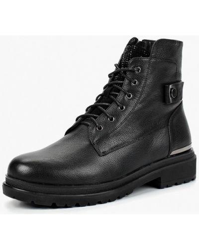 Кожаные ботинки осенние на каблуке Provocante