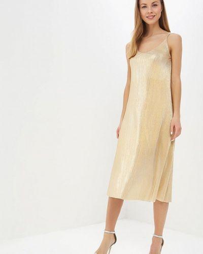 Вечернее платье осеннее золотой Vera Nicco