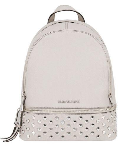 Кожаный рюкзак с заклепками на молнии Michael Michael Kors