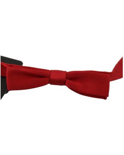 Czerwona mucha z jedwabiu Dolce And Gabbana