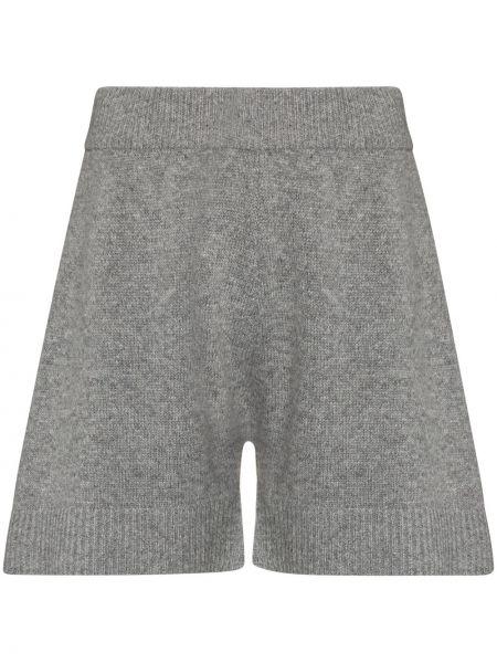 Шерстяные с завышенной талией вязаные шорты Frankie Shop
