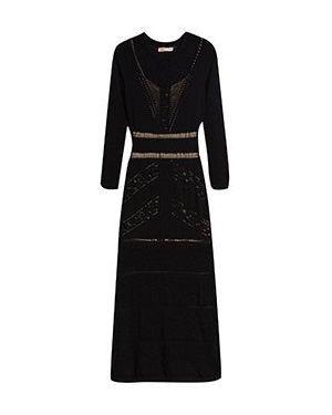 Вечернее платье из вискозы черное Twinset