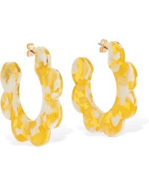 Żółte kolczyki sztyfty srebrne Valet Studio