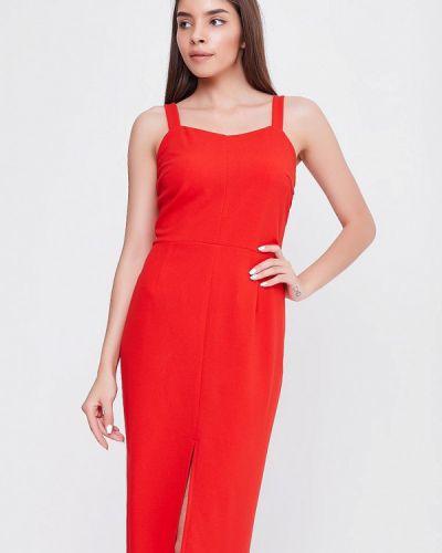 Платье весеннее красный Sfn