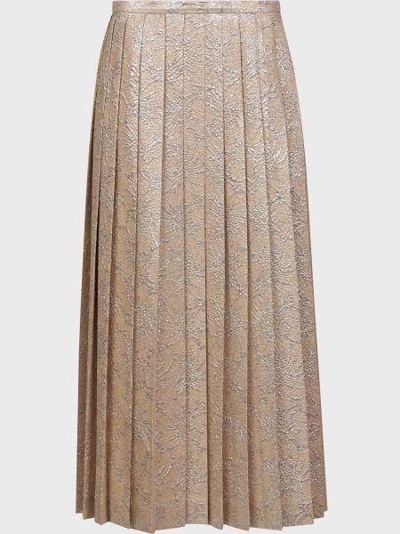 Шелковая юбка с подкладкой на молнии Rochas