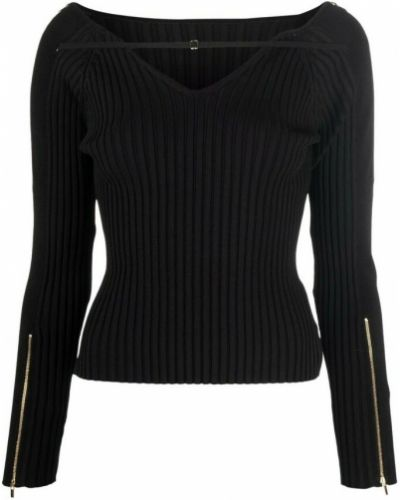 T-shirt dzianinowa - czarna Jacquemus