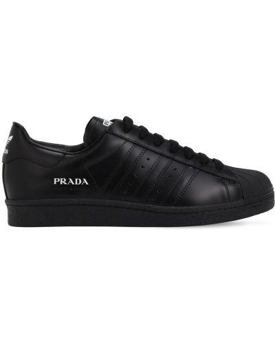 Czarne sneakersy skorzane sznurowane Adidas X Prada