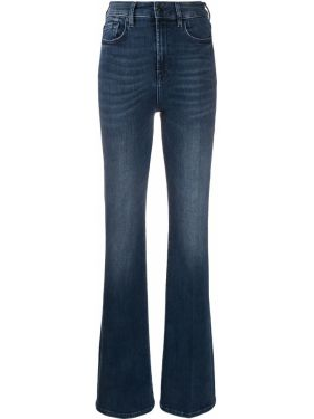 Расклешенные джинсы на пуговицах с карманами 7 For All Mankind