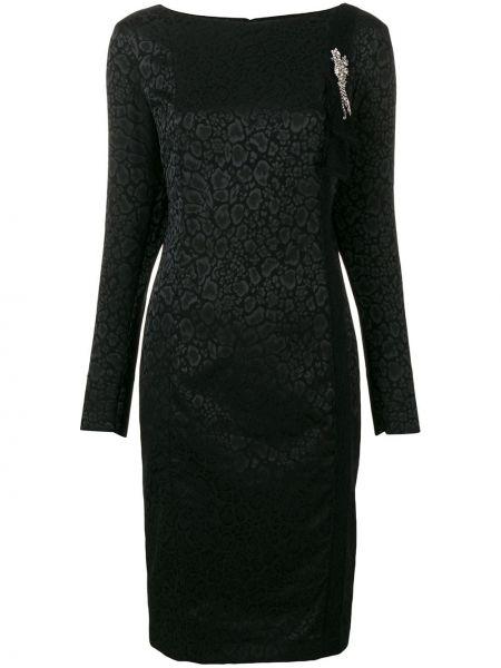 Черное платье миди Cavalli Class