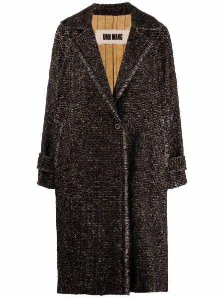 Черное пальто из мохера Uma Wang